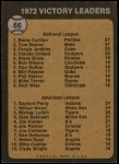1973 Topps #66   -  Steve Carlton / Gaylord Perry / Wilbur Wood Pitching Leaders Back Thumbnail