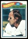 1977 Topps #295  Fred Biletnikoff  Front Thumbnail