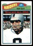 1977 Topps #320  Ray Guy  Front Thumbnail