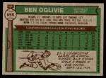 1976 Topps #659  Ben Oglivie  Back Thumbnail