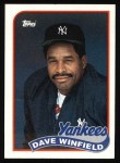 1989 Topps #260  Dave Winfield  Front Thumbnail