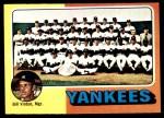 1975 Topps #611   -  Bill Virdon Yankees Team Checklist Front Thumbnail