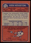 1973 Topps #415  Ken Houston  Back Thumbnail