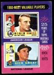 1975 Topps #198   -  Roger Maris / Dick Groat 1960 MVPs Front Thumbnail