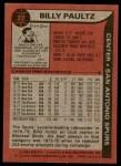 1979 Topps #22  Billy Paultz  Back Thumbnail