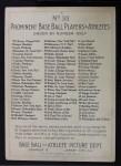 1911 T3 Turkey Red #33  Jack Pfiester  Back Thumbnail