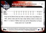 2016 Topps #61   -  Johnny Cueto World Series Highlights Back Thumbnail