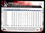 2016 Topps #351  Chase Utley  Back Thumbnail