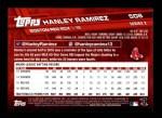 2017 Topps #508 A Hanley Ramirez  Back Thumbnail