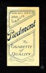 1909 T206 POR Rube Waddell  Back Thumbnail