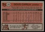1981 Topps #136  Doug Capilla  Back Thumbnail