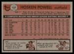 1981 Topps #137  Hosken Powell  Back Thumbnail