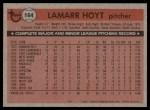 1981 Topps #164  LaMarr Hoyt  Back Thumbnail