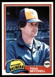 1981 Topps #449  Paul Mitchell  Front Thumbnail