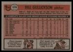 1981 Topps #578  Bill Gullickson  Back Thumbnail
