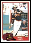 1981 Topps #254  Ozzie Smith  Front Thumbnail