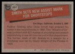 1981 Topps #207   -  Ozzie Smith Record Breaker Back Thumbnail