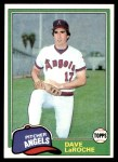 1981 Topps #529  Dave LaRoche  Front Thumbnail