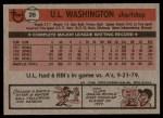 1981 Topps #26  U.L. Washington  Back Thumbnail