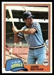 1981 Topps #157  John Wathan  Front Thumbnail