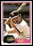 1981 Topps #196  Duffy Dyer  Front Thumbnail