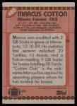 1990 Topps #480  Marcus Cotton  Back Thumbnail