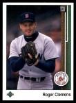 1989 Upper Deck #195  Roger Clemens  Front Thumbnail