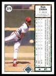 1989 Upper Deck #375  Rob Dibble  Back Thumbnail