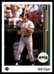 1989 Upper Deck #155  Will Clark  Front Thumbnail