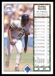 1989 Upper Deck #578  Bobby Bonilla  Back Thumbnail