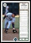 1989 Upper Deck #290  Alan Trammell  Back Thumbnail