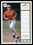 1989 Upper Deck #467  Cal Ripken  Back Thumbnail
