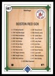 1989 Upper Deck #687   -  Wade Boggs Boston Red Sox Team Back Thumbnail