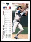 1991 Upper Deck #126  Tony Fernandez  Back Thumbnail