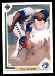 1991 Upper Deck #126  Tony Fernandez  Front Thumbnail