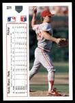 1991 Upper Deck #371  Randy Myers  Back Thumbnail