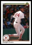 1990 Upper Deck #112  Dwight Evans  Front Thumbnail