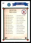 1990 Upper Deck #57   -  Roger Clemens Boston Red Sox Team Back Thumbnail