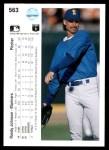 1990 Upper Deck #563  Randy Johnson  Back Thumbnail