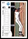1990 Upper Deck #577  Matt Williams  Back Thumbnail