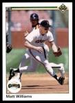 1990 Upper Deck #577  Matt Williams  Front Thumbnail