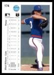 1990 Upper Deck #174  Mitch Williams  Back Thumbnail