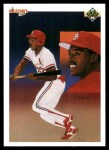 1990 Upper Deck #68   -  Vince Coleman St. Louis Cardinals Team Front Thumbnail