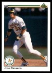 1990 Upper Deck #66  Jose Canseco  Front Thumbnail