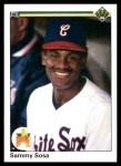 1990 Upper Deck #17  Sammy Sosa  Front Thumbnail