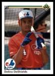 1990 Upper Deck #746  Delino DeShields  Front Thumbnail