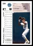 1990 Upper Deck #334  Rickey Henderson  Back Thumbnail