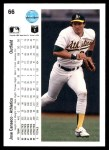 1990 Upper Deck #66  Jose Canseco  Back Thumbnail