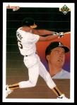1990 Upper Deck #36   -  Mark McGwire Oakland Athletics Team Front Thumbnail
