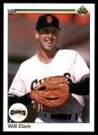1990 Upper Deck #556  Will Clark  Front Thumbnail